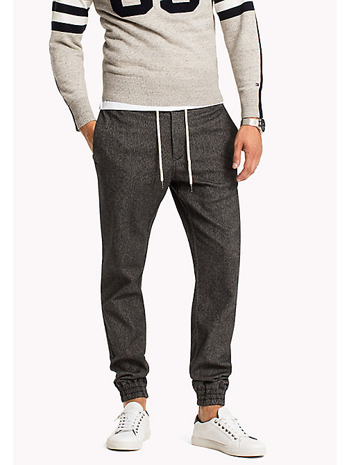 TOMMY HILFIGER Active Neppy Cotton Trousers - SKY CAPTAIN - TOMMY HILFIGER Trousers - main image