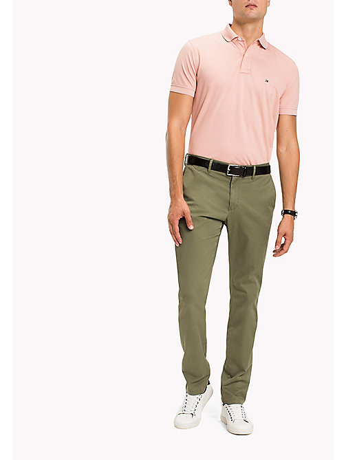TOMMY HILFIGER Straight Fit Chinos - FOUR LEAF CLOVER - TOMMY HILFIGER Trousers - main image