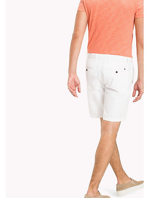 TOMMY HILFIGER Classic Regular Fit Cotton Shorts - BRIGHT WHITE - TOMMY HILFIGER Vacation Style - detail image 1