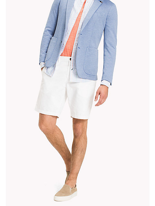 TOMMY HILFIGER Classic Regular Fit Cotton Shorts - BRIGHT WHITE - TOMMY HILFIGER Vacation Style - main image