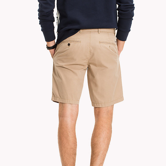 TOMMY HILFIGER Classic Regular Fit Cotton Shorts - BRIGHT WHITE - TOMMY HILFIGER Men - detail image 1
