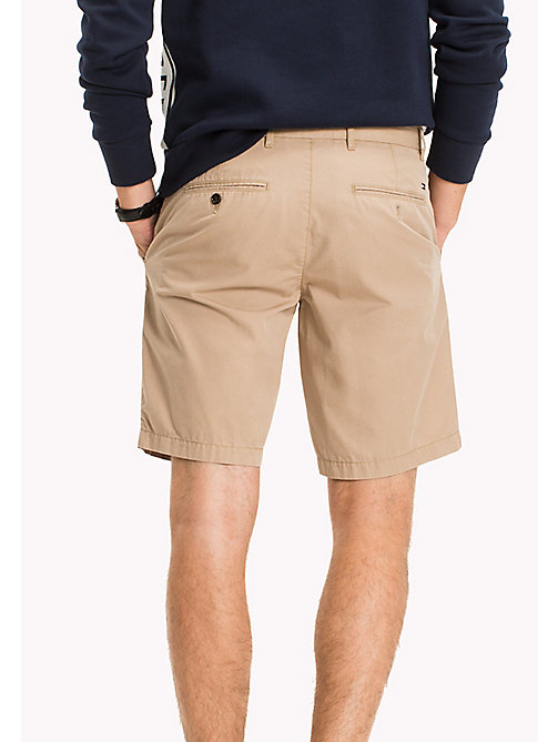 TOMMY HILFIGER Classic Regular Fit Cotton Shorts - BATIQUE KHAKI - TOMMY HILFIGER Clothing - detail image 1