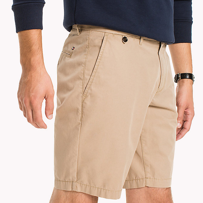 TOMMY HILFIGER Classic Regular Fit Cotton Shorts - BRIGHT WHITE - TOMMY HILFIGER Men - detail image 3