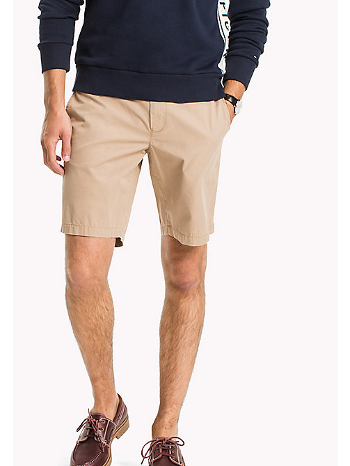 TOMMY HILFIGER Classic Regular Fit Cotton Shorts - BATIQUE KHAKI - TOMMY HILFIGER Clothing - main image