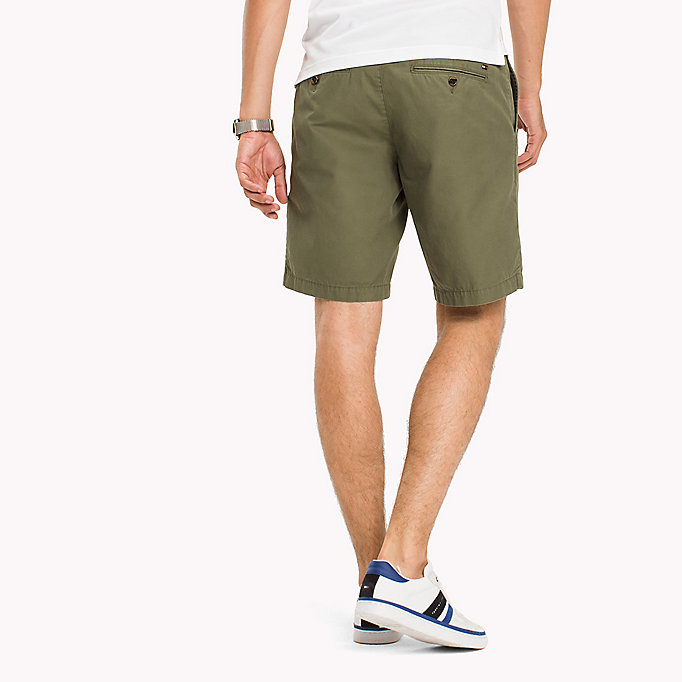 TOMMY HILFIGER Classic Regular Fit Cotton Shorts - WALNUT - TOMMY HILFIGER Men - detail image 1