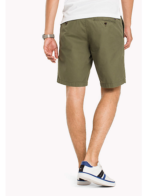 TOMMY HILFIGER Classic Regular Fit Cotton Shorts - FOUR LEAF CLOVER - TOMMY HILFIGER Shorts - main image 1