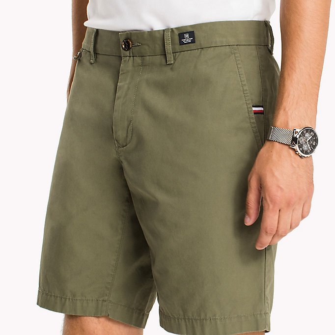 TOMMY HILFIGER Classic Regular Fit Cotton Shorts - WALNUT - TOMMY HILFIGER Men - detail image 3