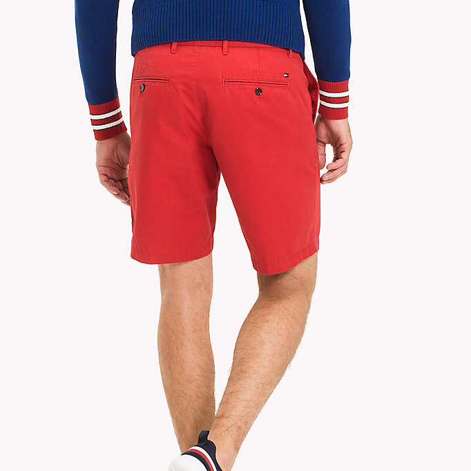TOMMY HILFIGER Classic Regular Fit Cotton Shorts - FOUR LEAF CLOVER - TOMMY HILFIGER Men - detail image 1