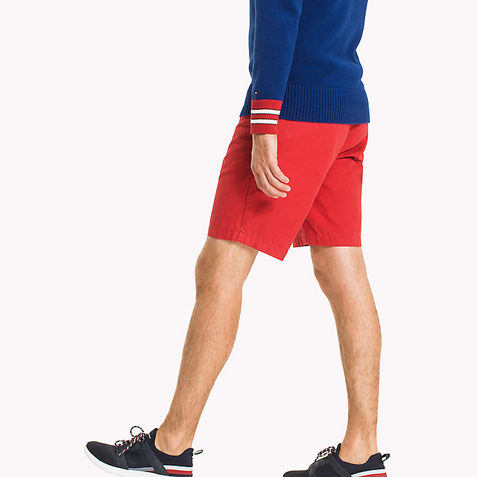 TOMMY HILFIGER Classic Regular Fit Cotton Shorts - FOUR LEAF CLOVER - TOMMY HILFIGER Men - detail image 2