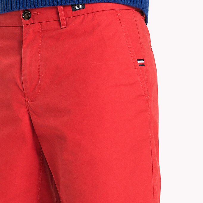 TOMMY HILFIGER Classic Regular Fit Cotton Shorts - FOUR LEAF CLOVER - TOMMY HILFIGER Men - detail image 3