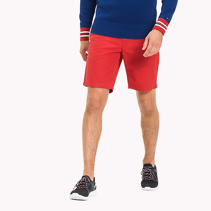 TOMMY HILFIGER Classic Regular Fit Cotton Shorts - FOUR LEAF CLOVER - TOMMY HILFIGER Men - main image