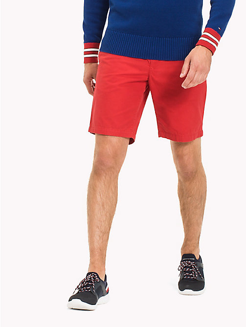 TOMMY HILFIGER Classic Regular Fit Cotton Shorts - SKY CAPTAIN - TOMMY HILFIGER NEW IN - main image