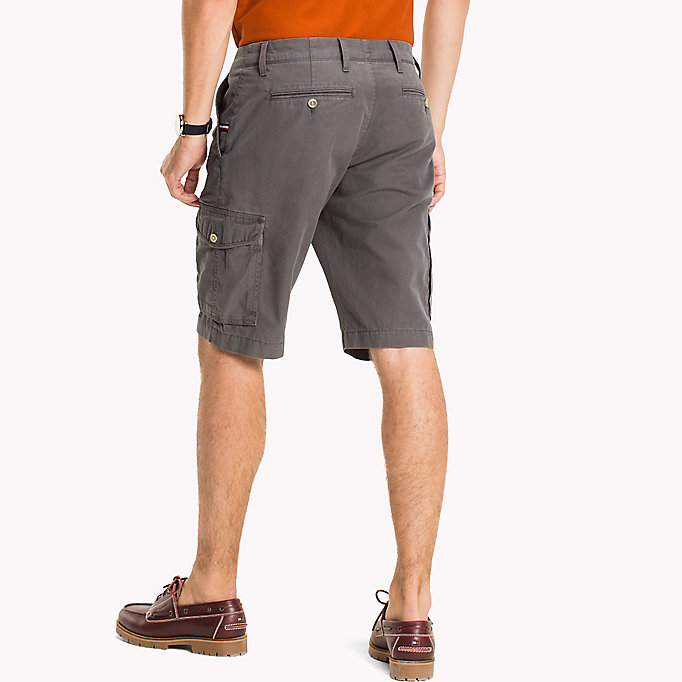 TOMMY HILFIGER Pure Cotton Cargo Shorts - ELMWOOD - TOMMY HILFIGER Men - detail image 1