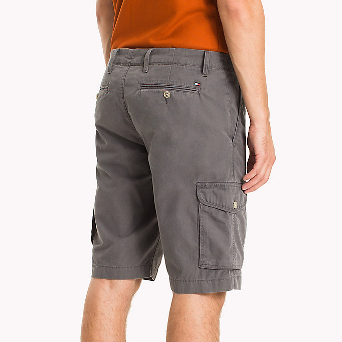 TOMMY HILFIGER Pure Cotton Cargo Shorts - ELMWOOD - TOMMY HILFIGER Men - detail image 3