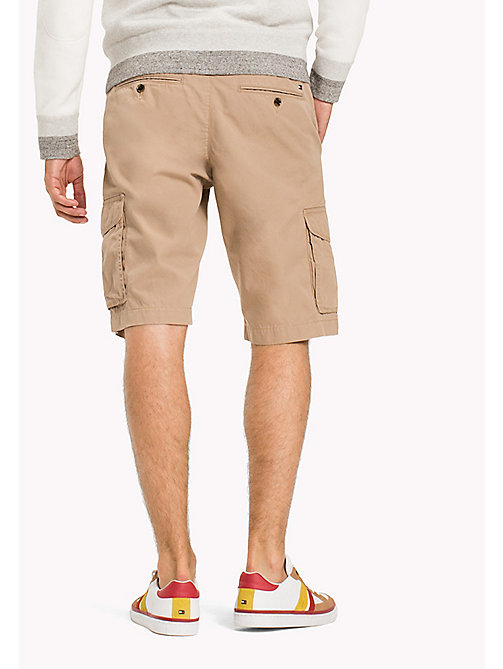 TOMMY HILFIGER Pure Cotton Cargo Shorts - BATIQUE KHAKI - TOMMY HILFIGER Shorts - main image 1