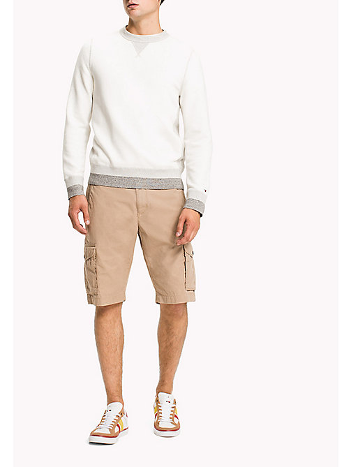 TOMMY HILFIGER Pure Cotton Cargo Shorts - BATIQUE KHAKI - TOMMY HILFIGER Shorts - main image