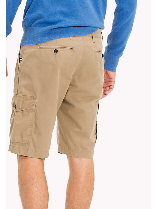 TOMMY HILFIGER Pure Cotton Cargo Shorts - ELMWOOD - TOMMY HILFIGER Shorts - main image 1