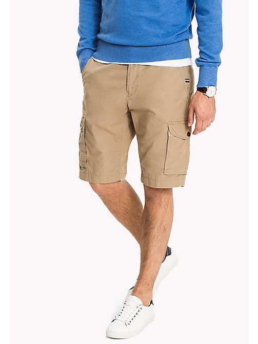 TOMMY HILFIGER Pure Cotton Cargo Shorts - ELMWOOD - TOMMY HILFIGER Shorts - main image