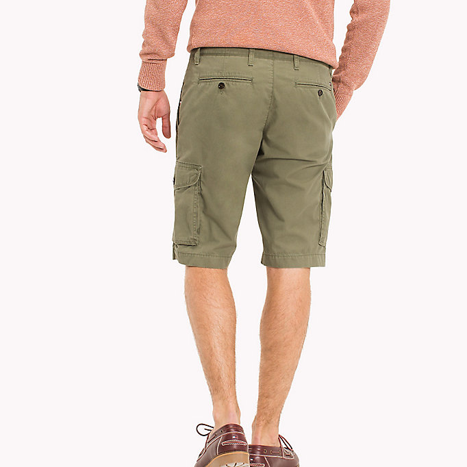 TOMMY HILFIGER Pure Cotton Cargo Shorts - BATIQUE KHAKI - TOMMY HILFIGER Men - detail image 1