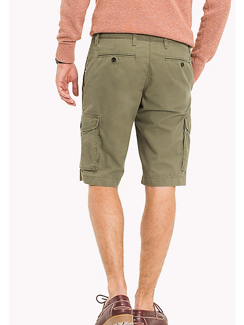 TOMMY HILFIGER Pure Cotton Cargo Shorts - FOUR LEAF CLOVER - TOMMY HILFIGER Shorts - main image 1