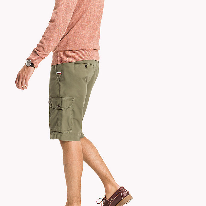 TOMMY HILFIGER Pure Cotton Cargo Shorts - BATIQUE KHAKI - TOMMY HILFIGER Men - detail image 2