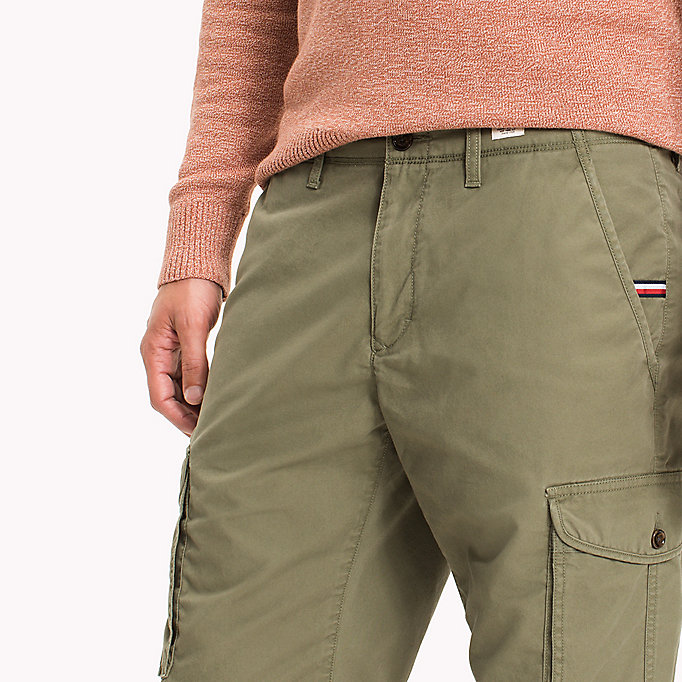 TOMMY HILFIGER Pure Cotton Cargo Shorts - BATIQUE KHAKI - TOMMY HILFIGER Men - detail image 3