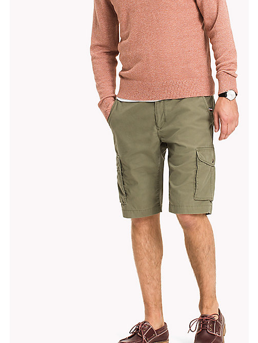 TOMMY HILFIGER Pure Cotton Cargo Shorts - FOUR LEAF CLOVER - TOMMY HILFIGER Shorts - main image