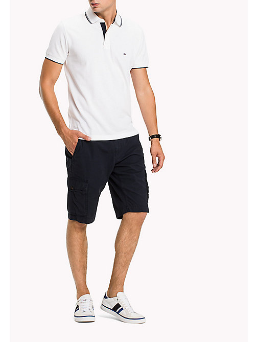 TOMMY HILFIGER Pure Cotton Cargo Shorts - SKY CAPTAIN - TOMMY HILFIGER Trousers & Shorts - main image