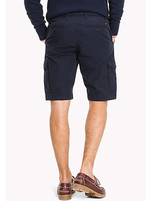 TOMMY HILFIGER Pure Cotton Cargo Shorts - NAVY BLAZER - TOMMY HILFIGER Clothing - detail image 1