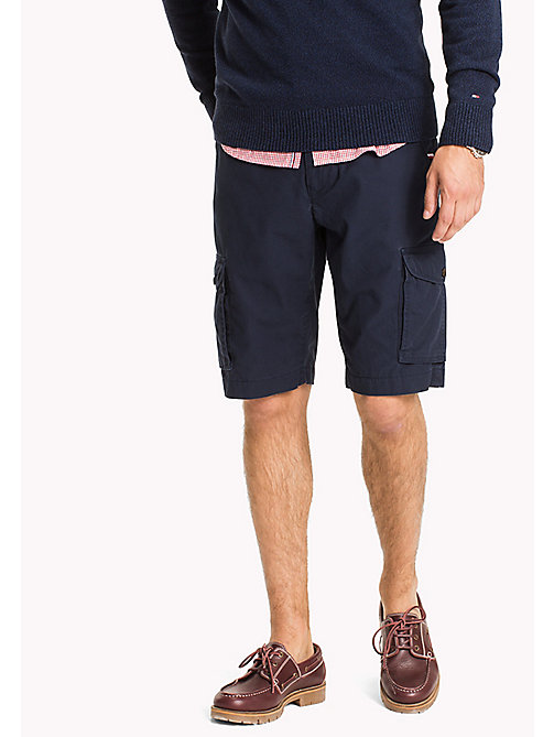 TOMMY HILFIGER Pure Cotton Cargo Shorts - NAVY BLAZER -  Shorts - main image