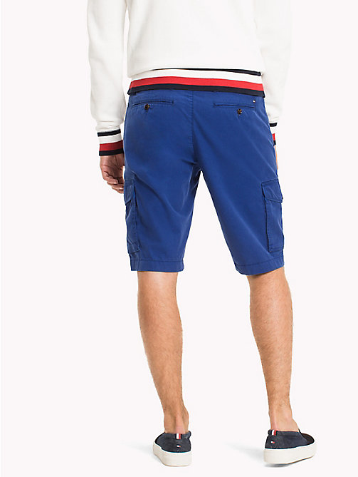 TOMMY HILFIGER Pure Cotton Cargo Shorts - SODALITE BLUE - TOMMY HILFIGER Trousers & Shorts - detail image 1