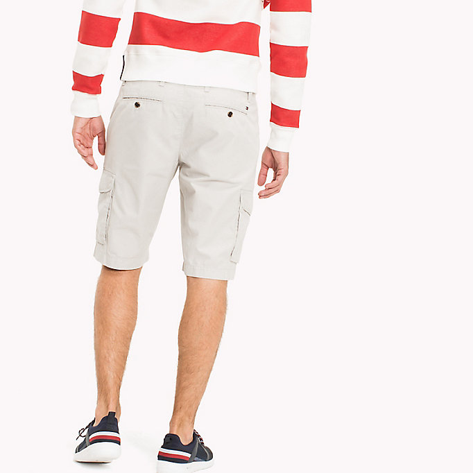 TOMMY HILFIGER Pure Cotton Cargo Shorts - FOUR LEAF CLOVER - TOMMY HILFIGER Men - detail image 1