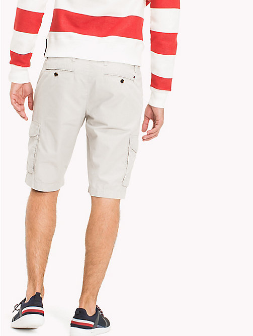 TOMMY HILFIGER Pure Cotton Cargo Shorts - GRAY VIOLET - TOMMY HILFIGER Clothing - detail image 1