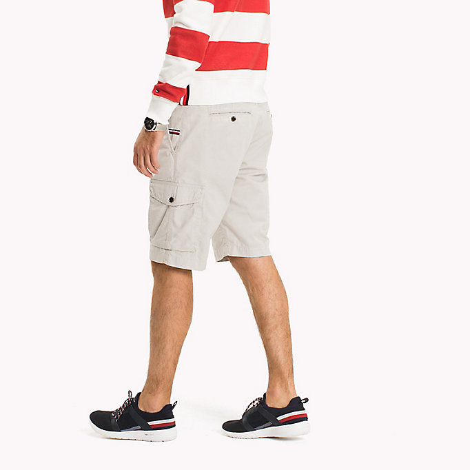 TOMMY HILFIGER Pure Cotton Cargo Shorts - FOUR LEAF CLOVER - TOMMY HILFIGER Men - detail image 2