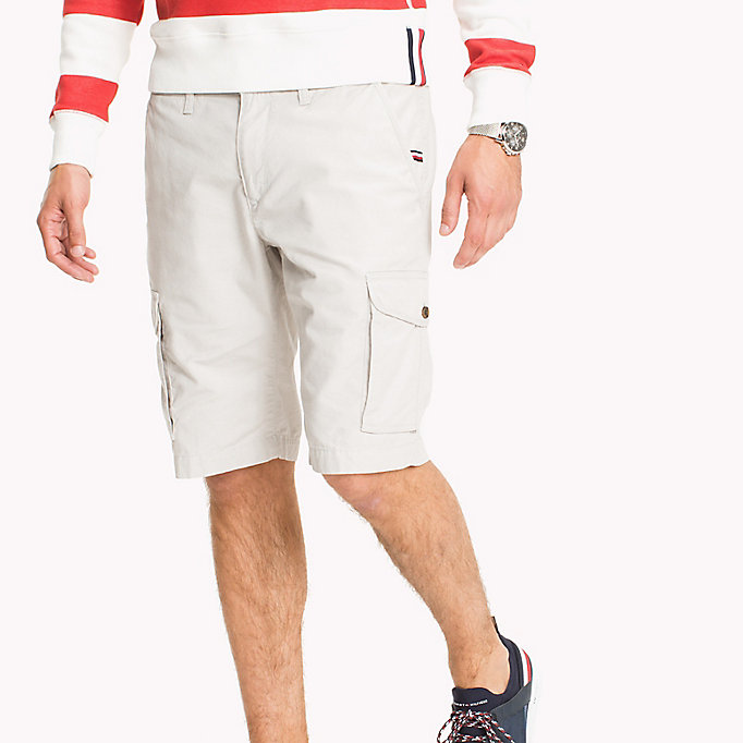 TOMMY HILFIGER Pure Cotton Cargo Shorts - FOUR LEAF CLOVER - TOMMY HILFIGER Men - main image