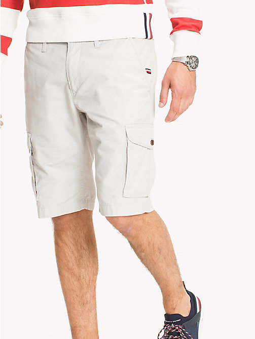 TOMMY HILFIGER Pure Cotton Cargo Shorts - GRAY VIOLET - TOMMY HILFIGER Clothing - main image