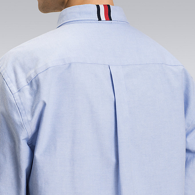 TOMMY HILFIGER Striped Cuff Shirt - Hilfiger Edition - BRIGHT WHITE - TOMMY HILFIGER Men - detail image 4