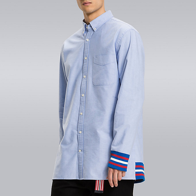 TOMMY HILFIGER Striped Cuff Shirt - Hilfiger Edition - BRIGHT WHITE - TOMMY HILFIGER Men - main image