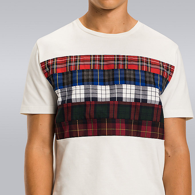 TOMMY HILFIGER Tartan Stripe T-Shirt - Hilfiger Edition - CLOUD HTR - TOMMY HILFIGER Men - detail image 2