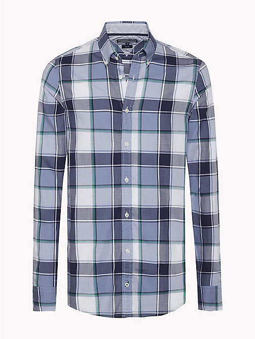 TOMMY HILFIGER Slim Fit Check Shirt - MARITIME BLUE / JOLLY GREEN - TOMMY HILFIGER Clothing - main image