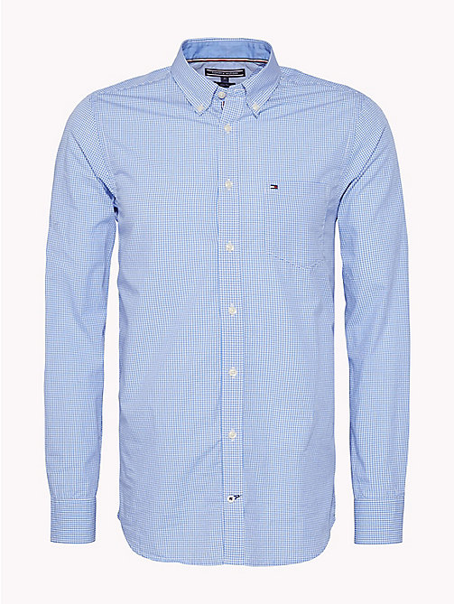 TOMMY HILFIGER Slim Fit Micro Check Shirt - REGATTA / BRIGHT WHITE - TOMMY HILFIGER Shirts - main image