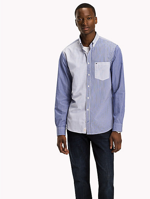 TOMMY HILFIGER Gestreiftes Regular Fit Hemd - SHIRT BLUE / BRIGHT WHITE - TOMMY HILFIGER Hemden - main image 1