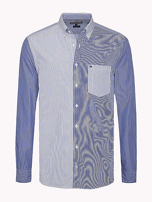 TOMMY HILFIGER Gestreiftes Regular Fit Hemd - SHIRT BLUE / BRIGHT WHITE - TOMMY HILFIGER Hemden - main image