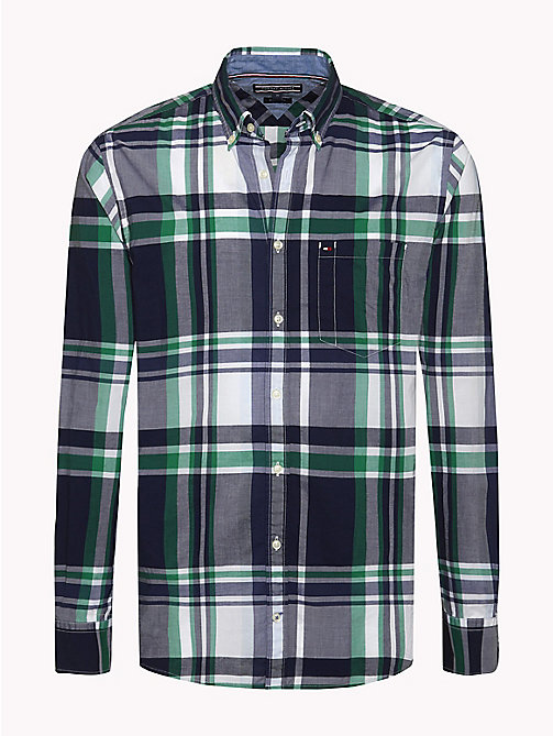 TOMMY HILFIGER Regular Fit Check Shirt - MARITIME BLUE / VERDANT GREEN - TOMMY HILFIGER Shirts - main image