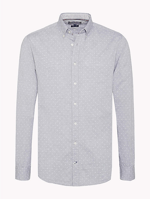 TOMMY HILFIGER Regular Fit Printed Shirt - CLOUD HTR / SNOW WHITE - TOMMY HILFIGER Casual Shirts - main image