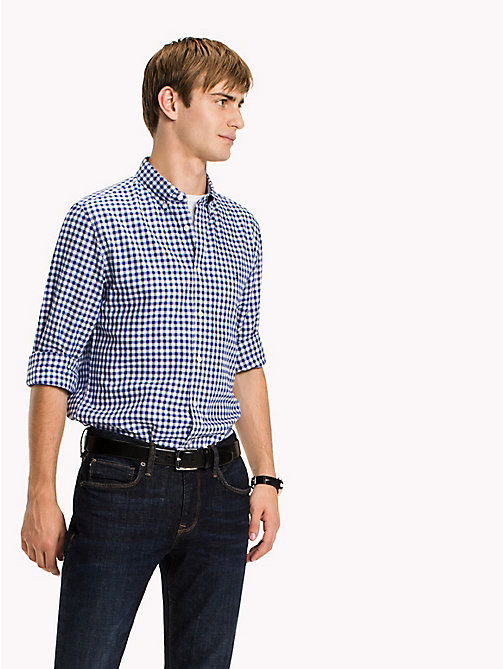 TOMMY HILFIGER Regular Fit Gingham Check Shirt - MAZARINE BLUE / BRIGHT WHITE - TOMMY HILFIGER Shirts - detail image 1