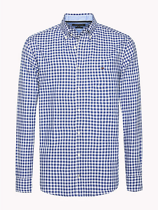 TOMMY HILFIGER Regular Fit Gingham Check Shirt - MAZARINE BLUE / BRIGHT WHITE - TOMMY HILFIGER Shirts - main image