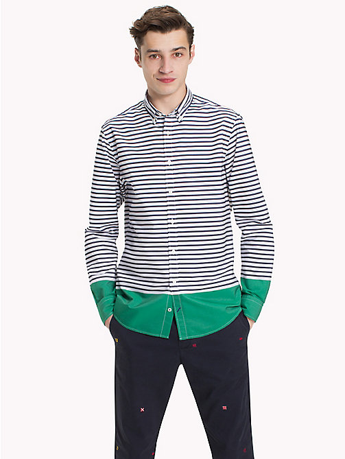 TOMMY HILFIGER Regular Fit Striped Shirt - MARITIME BLUE / VERDANT GREEN - TOMMY HILFIGER Clothing - detail image 1