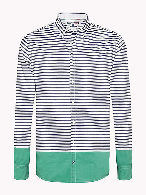 TOMMY HILFIGER Regular Fit Striped Shirt - MARITIME BLUE / VERDANT GREEN - TOMMY HILFIGER Clothing - main image