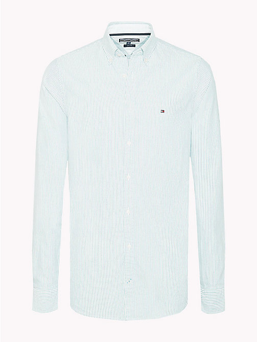 TOMMY HILFIGER Stripe Slim Fit Shirt - MARITIME BLUE / BRIGHT WHITE - TOMMY HILFIGER Casual Shirts - main image